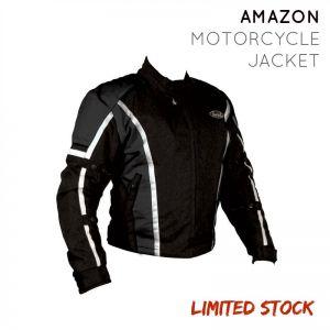Nankai Amazon Waterproof Unisex Motorcycle Jacket - BLK/BLK - Small (S)