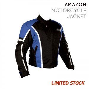 Nankai Amazon Waterproof Unisex Motorcycle Jacket - BLK/BLUE - Large (L)
