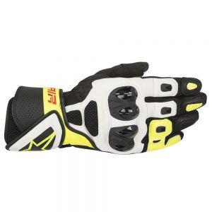 Alpinestars SP Air Sport Motorcycle Gloves Black/White/Fluo XXL