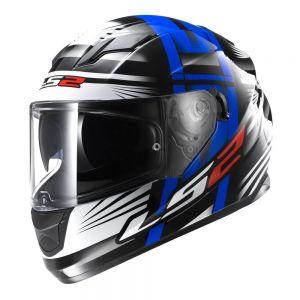 LS2 FF320 Stream Bang Full Face Motorcycle Helmet Black Blue - S / Small