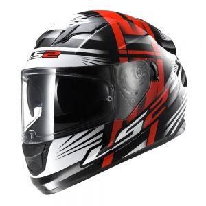 LS2 FF320 Stream Bang Full Face Motorcycle Helmet Red Black - XXL
