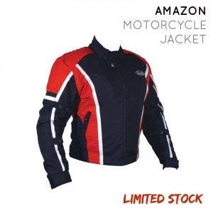 Nankai Amazon Waterproof Unisex Motorcycle Jacket - BLK/RED - Extra Large (XL)