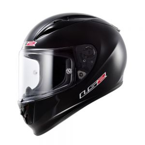 LS2 FF323 Arrow R Solid Full Face Motorcycle Helmet Black - L / Large