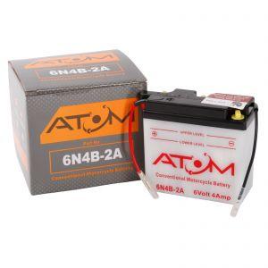 6N4B-2A - Atom Wet-Cell Motorcycle Battery 6V 4Ah