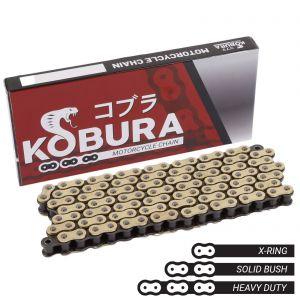Kobura 428x118 HD Rivet Link Gold X-Ring Chain for Honda, Yamaha, Suzuki & More