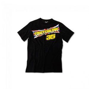 Cal Crutchlow 35 Official Moto GP Mens Black Flag T-shirt - L