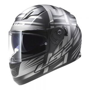 LS2 FF320 Stream Bang Full Face Motorcycle Helmet Black Titanium - L / Large