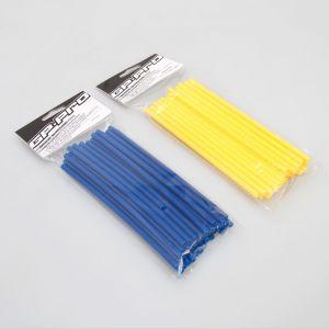 GP Pro Supermoto Spoke Coats - Blue-Yellow 18CM Twin Pack