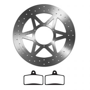 EBC Organic Brake Pad and Delta Front Disc - Aprilia RS4 125 (11-14)