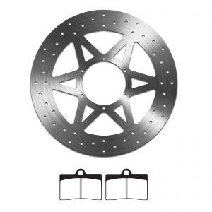 EBC Sintered Brake Pad and Delta Front Disc - Aprilia RS4 125