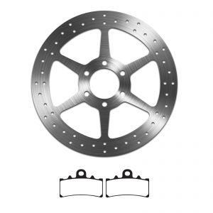 EBC Sintered Brake Pad and Delta Front Disc - KTM Duke 125