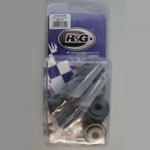 R&G Racing M10 Offset Cotton Reels (Black) - Kawasaki ZX6-R (07-18)