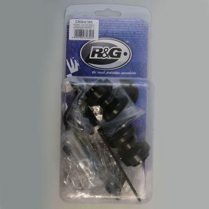 R&G Racing Black Offset Cotton Reels for Honda NC 700, NC 750