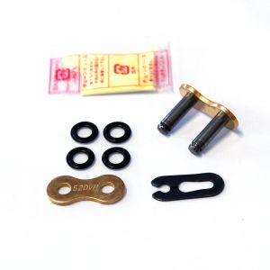 DID 520 VM - Gold/Black Drive Chain - Spring Link