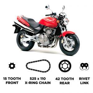 D.I.D HD Chain & Sprocket Kit - Honda CB 600 F Hornet 1998-2006