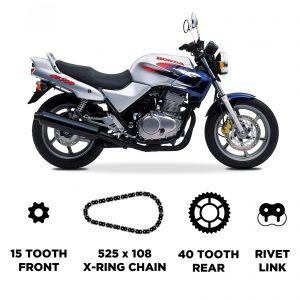D.I.D HD Chain & Sprocket Kit - Honda CB 500/S 1994-2003