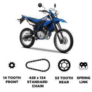 D.I.D Chain & Sprocket Kit - Yamaha WR 125 R 2009-2016