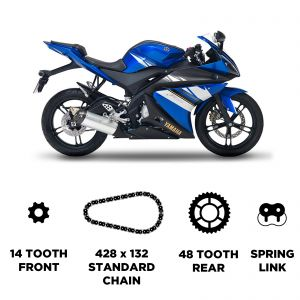 D.I.D Chain & Sprocket Kit - Yamaha WR 125 X 2009-2017