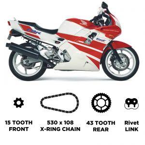 D.I.D Chain & Sprocket Kit -  Honda CBR 600 F 91-96