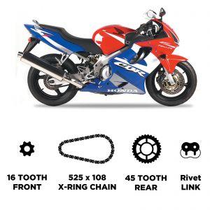 D.I.D Chain & Sprocket Kit - Honda CBR 600 F 02-07