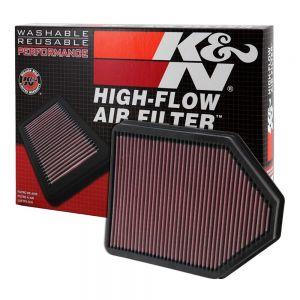 K&N Reusable High-Flow Performance Air Filter - DU-1004