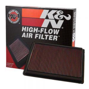 K&N Reusable High-Flow Performance Air Filter - DU-9001