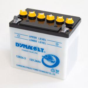 12N24-3 - Dynavolt Wet-Cell Motorcycle Battery 12V 24Ah