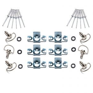 Dzus Fairing D Ring Quick Release 17mm Stud - Pack of 6