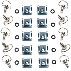 Dzus Fairing D Ring Quick Release 17mm Stud - Pack of 10