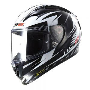 LS2 FF323 Arrow R Matrix Full Face Motorcycle Helmet Black White - L / Large