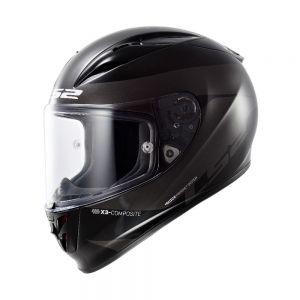 LS2 FF323 Arrow R Comet Full Face Motorcycle Helmet Black Titanium - XS