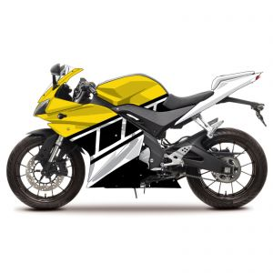 Yamaha Yellow Race Decal Fairing Kit - Yamaha YZF R125 08-13