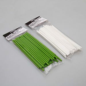 GP Pro Supermoto Spoke Coats - Green-White 18CM Twin Pack