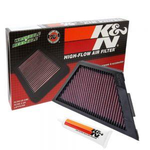 K&N Reusable High-Flow Performance Air Filter - KA-1406