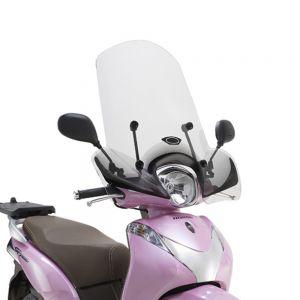 Kappa Transparent High Scooter Screen 43cm - Honda SH Mode 125 13-18