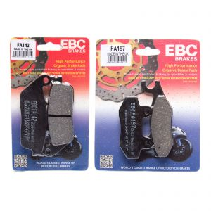 EBC Complete Front Rear Organic Brake Pad Kit Kawasaki Z400 18-19 FA142 FA197