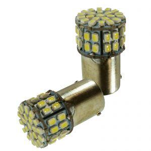 Replacement 1156 50 White LED Tail, Brake, Indicator Light Bulb x2