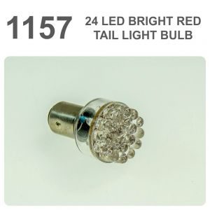 Replacement 380/1157 24 Red LED Tail, Brake, Interior Light Bulb