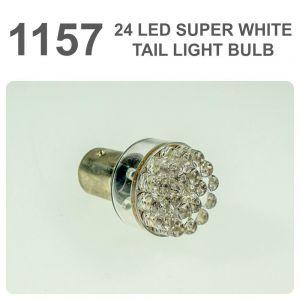 Replacement 380/1157 24 White LED Tail, Brake, Interior Light Bulb