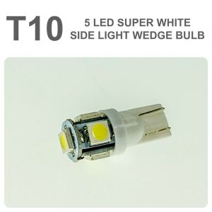 Replacement 501/T10 5 White LED Error Free Canbus Sidelight Bulb