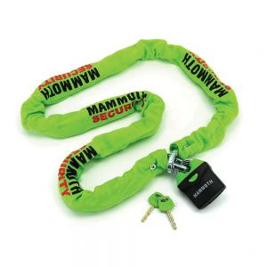 Mammoth Thatcham Approved and Scooter Lock and chain 10x10x1.8m