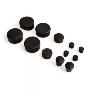 12 Piece Black Rubber Frame Plug Set - Suzuki GSX-R1000 2007-2008