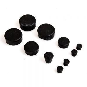 10 Piece Black Rubber Frame Plug Set - Suzuki GSX-R600/750 2006-2010