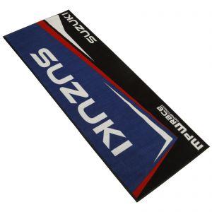 MPW Race Dept Non-slip 200x75cm Garage Workshop Mat Suzuki - Blue