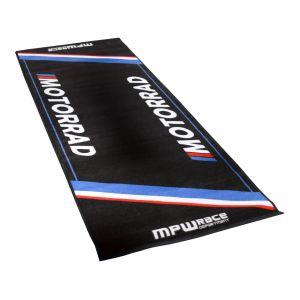 MPW Race Dept Non-slip 200x75cm Garage Workshop Mat BMW Motorrad - Blue / Grey