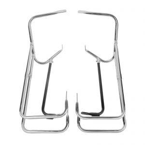 Chrome Twin Rail Saddlebag Crash Bar Guard - Harley-Davidson Touring Models