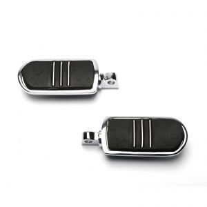 Chrome Streamliner Styled Pair Of Footpegs - Harley Davidson Softail Touring
