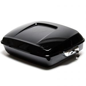 Gloss Black Chopped Tour Pak Top Box Luggage - Harley Davidson Touring 14-18