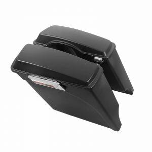 Matte Black 5'' Extended Stretched Saddlebags Luggage Harley Davidson Touring 93-13