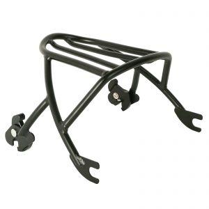 Black Detachable Solo Luggage Rack - Harley Sportster XL 883 1200 2004-2019